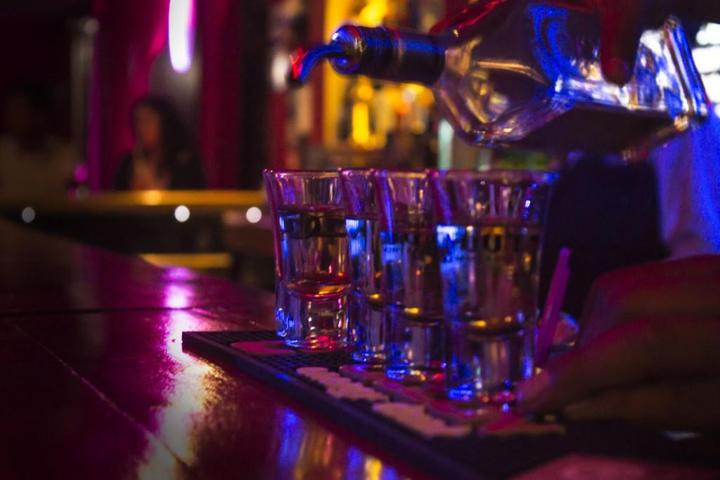 Tequila in Shot-Gläsern.